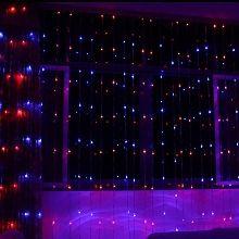 Fuloon-6M x 3M 768 LEDs rideau lumineux/guirlande lumineuse Avec 16 modes différents de Lumière-Effet,Idéal pour la décoration extérieur/intérieur,mariage,fête,party-Coloré