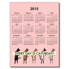 Every Day Is Caturday - 2015 calendar - Postcards