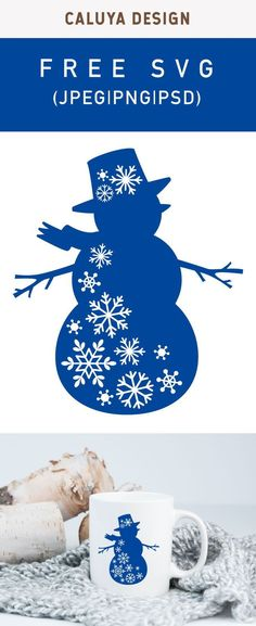 FREE Snowman with snowflake SVG cut file, Printable vector clip art download. Free printable clip art. Compatible with Cameo Silhouette, Cricut explore and other major cutting machines. 100% for personal use, only $3 for commercial use. Perfect for DIY craft project with Cricut & Cameo Silhouette, card making, scrapbooking, making planner stickers, making vinyl decals, decorating t-shirts with HTV and more! Free Snowman SVG cut file, free Christmas SVG cut file, free Christmas wall decor SVG