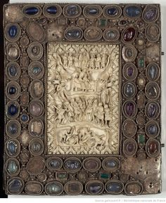 Plat de reliure du Psautier de Charles le Chauve, v. 842-869 - Paris, BnF, lat. 1152