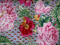 Alexander Henry Cabbage Roses Fabric