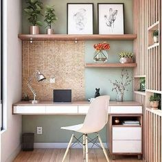 Mar 2020 - 60 Comfortable Home Office Ideas to Inspire. home office ideas; small home office; There is a need for a home office, especially for those who work at home or need continue unfinished work at home. A good workspace… Home Office Organization, Home Office Decor, Office Furniture, Office Decorations, Organization Ideas, Furniture Design, Office Nook, Office Table, Office Chairs
