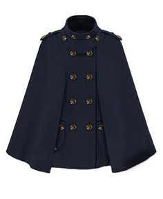Reminds me of Guys and Dolls/salvation army.      Navy-Style Double-Breasted Cape