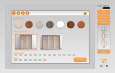 Configuración de los armarios, medidas y colores de la colección Esenzia de dormitorios y armarios