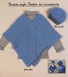 modele poncho tricot 8 ans Poncho Crochet, Outdoor Blanket, Knitting, Diy, Fashion, Ponchos, Oval Tablecloth, Moda, Tricot
