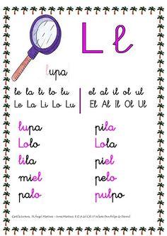 ESOS LOCOS BAJITOS DE INFANTIL: CARTILLA DE LECTURA Writing Notebook, Teaching Spanish, I School, Speech Therapy, Homeschool, Classroom, Math Equations, Motivation, Education
