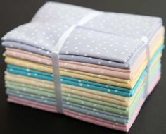 Fat quarter bundle (8) spotty pastels from The Craft Cotton Co £16.99