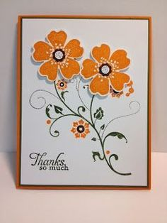 Flowering Flourishes Flower Shop Stampin' Up! Rubber Stamping Handmade Cards