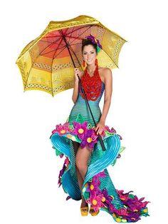 Candidatas a Señorita Colombia 2013 en traje artesanal - Terra Colombia