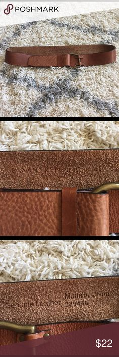 "Banana republic brown leather belt women's large Excellent condition banana republic brown leather belt large. It folds over. Full length is 48"". Banana Republic Accessories Belts"