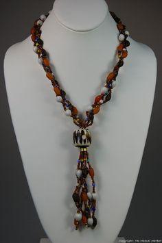 Maasai Market Africa Handmade Jewelry Masai Bead Seed Batik Bone Necklace 314-86