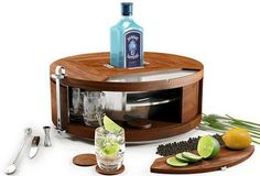 Gin Wheel Is A Lazy Susan For Your Drink-Mixing Supplies on Wanelo