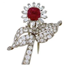 Shop diamond and pearl brooches and other antique and vintage brooches from the world's best jewelry dealers. Art Deco Jewelry, High Jewelry, Pearl Brooch, Natural Ruby, Bvlgari, Vintage Brooches, Cartier, Stones, Paris