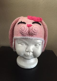 c65ce0ed902 This bunny hat is a super cute hat from etsy. It s great for Easter.