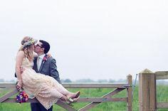 A Handmade Bohemian Wildflower Farm Wedding