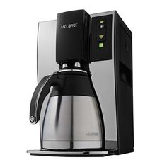 Enabled with WeMo®, the Mr. Coffee 10-Cup Smart Optimal Brew Coffeemaker makes it easy to schedule, monitor, and modify your brew from anywhere. Sleep in a little longer by setting up a brewing schedule in advance. Then monitor your brew status from your smart device to make sure you don't get out of bed before the coffee's ready. The free WeMo® app lets you configure weeks' worth of brew times at once.
