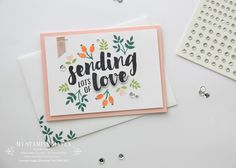 Lots Of Love love card #MyStampinHaven #StampinUp