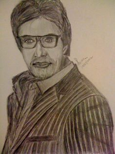 Drawing and sketching practise - Amitabh