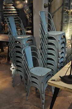 make cushions and paint would be great extra chairs for holidays     they stack and look much better then those horrible folding chairs