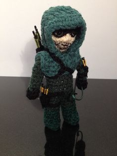 Hand made to order standing crochet doll -  Green Arrow - Oliver Queen - DC Comics - The CW