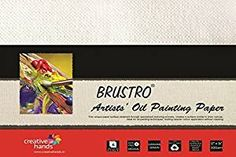 "Brustro Artists' Oil Painting Papers 300 GSM 12"" X 16""  Pack of 6 Sheets."