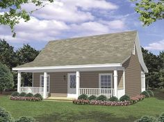 Ranch House Plan with 800 Square Feet and 2 Bedrooms from Dream Home Source | House Plan Code DHSW62709