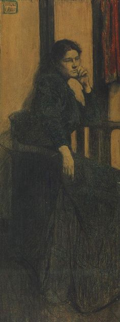 """""""Portrait of Jessie Willcox Smith"""" by Violet Oakley 1900"""