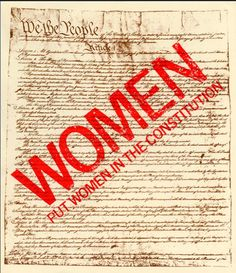 The Equal Rights Amendment Unfinished Business For The