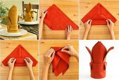 Creativas formas de Doblar Servilletas de Papel y de Tela con el Paso a Paso para que puedas hacerlas facilmente en tu casa. Entra para verlas.