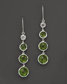 "Ippolita ""Silver Rain"" Sterling Silver Earrings In Peridot And Rose Cut Diamonds | Bloomingdale's"