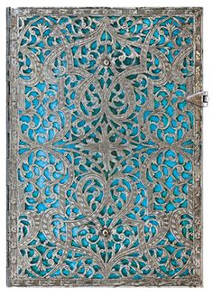 Maya Blue, the newest addition to @Paperblanks' Silver Filigree collection of writing journals.    www.paperblanks.com