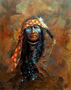 1955 yılında doğan Mark Rohrig  canlı resimlerinde Amerikan yerlilerinin zorlu ruhunu yakalamak için mümkün oldugu kadar özenli ve detay...