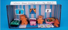 Story boxes are a great way for children to retell scenes from stories.