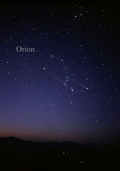Shapes in the sky, constellation,  orion, night sky, starry night