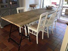 Tafel steigerhout schragen DIY