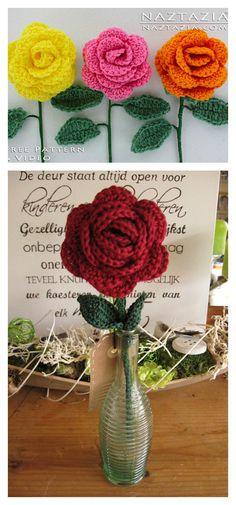 Crochet Lovely Rose Video Tutorial for Beginner