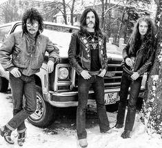 Motörhead - Fest Eddie, Lemmy Kilmister and Philthy Animal Taylor. Heavy Metal, Heavy Rock, Curved Air, Eddie Clarke, Roisin Dubh, Dark Pictures, Dark Pics, Music Pics, 70s Music