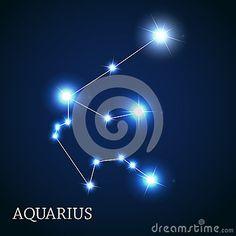 Signe de zodiaque de Verseau des belles étoiles lumineuses
