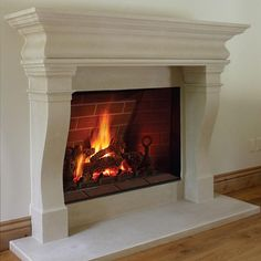 This popular Carmel Fireplace Mantel will take your living space to the next level! and by adding style to your fireplace. It's made of durable cast stone. Hearth Stone, Stone Fireplace Mantel, Rock Fireplaces, Fireplace Inserts, Living Room With Fireplace, Fireplace Surrounds, Fireplace Design, Limestone Fireplace, Classic Fireplace