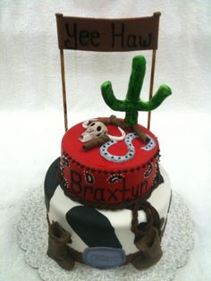 Cowboy cake By SpecialtyCakesbyKelli on CakeCentral.com