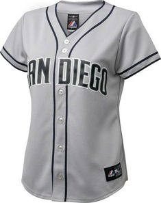 59c139d2b Women s Majestic San Diego Padres Replica Grey Road Cool Base MLB Jersey