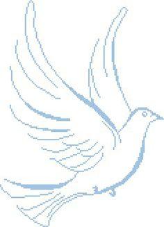 Point de croix : amour de colombe White Doves, Le Point, Cross Stitching, Quilling, Needlework, Religion, Clip Art, Vespa, Pattern