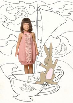 love this youthful way of mixing illustration and photography = idea for customized book dylan