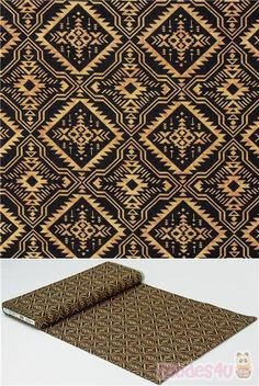 100% cotton fabric with brown reflective geometric motif on solid black, Dan Morris Design, very high quality fabric, typical great quality from the USA #Cotton #Retro #USAFabrics Retro Fabric, Solid Black, Printing On Fabric, Dan Morris, Cotton Fabric, Quilts, Brown, Usa, Design