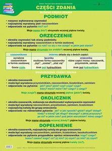 Język Polski - GRAMATYKA - Zestaw 22 plansz Polish Language, Literatura