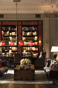 The Library at The St. Regis Florence. #Florence #Italy #Travel