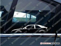 2x Car Silhouette sticker - VW Corrado VR6 / G60 / 16v classic volkswagen