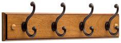 Liberty Hardware 128738 18-Inch 4-Scroll Hook Rail, Honey Maple and Statuary Bronze: Amazon.ca: Tools & Home Improvement