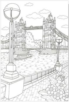 GRACE LONDON [MADE IN KOREA] Coloring Book For Children Adult Graffiti Painting Drawing Book