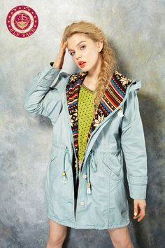 Women's Pop Rural Style Large Pockets Long Trench